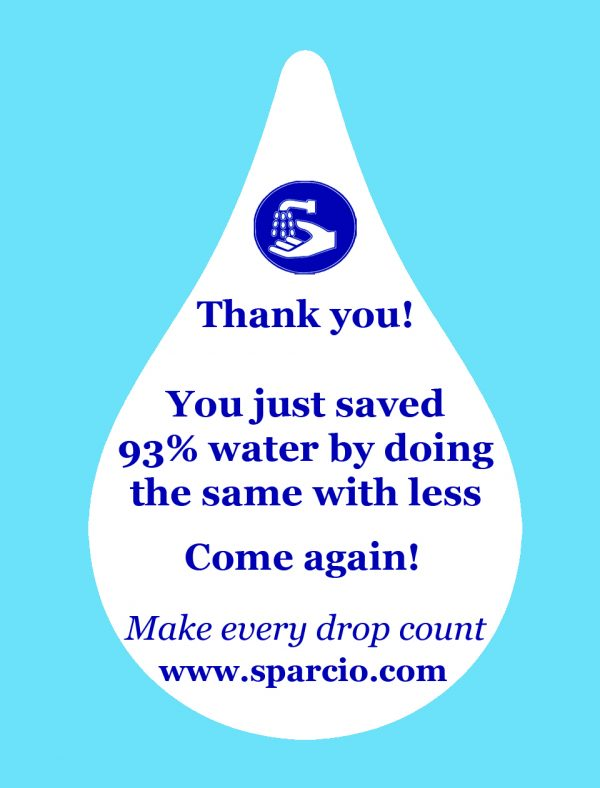 Water saving sticker