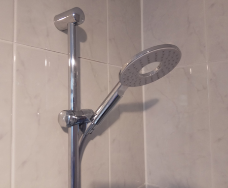 Water saving shower, Pluvento air shower