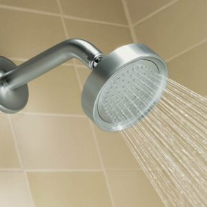 Small shower head, water saving Pluvento