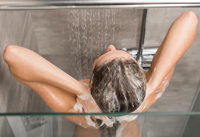 Water saving shower